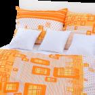 Stanex Metráž krep káro oranžové (LS142)