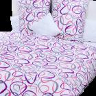 Stanex Metráž krep elipsy fialovo-růžové (LS143)