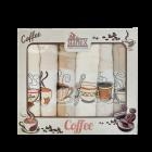 Stanex Coffee dárkový set - vaflové utěrky 6ks